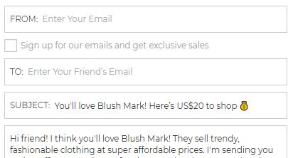 blushmark referral