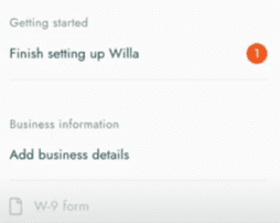 willa pay business